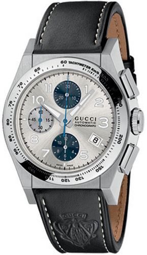 b16c6606bf1 YA115233 Gucci 115 Pantheon Silver Chronograph Mens Automatic Watch.