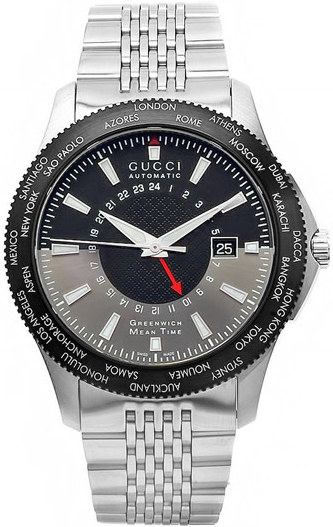 7c8742497b3 YA126211 Gucci 126 G-Timeless GMT Collection Mens Automatic Watch