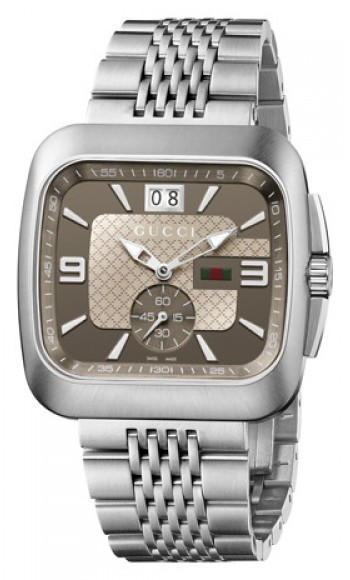 6139daa0a YA131301 Gucci Coupe Collection Mens Brown Dial Watch