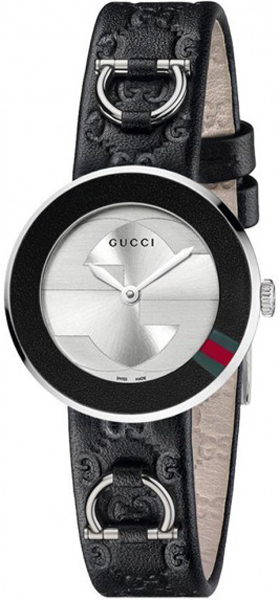 790a12ad23b YA129508 Gucci U-Play Small Collection Ladies Black Leather Strap Watch
