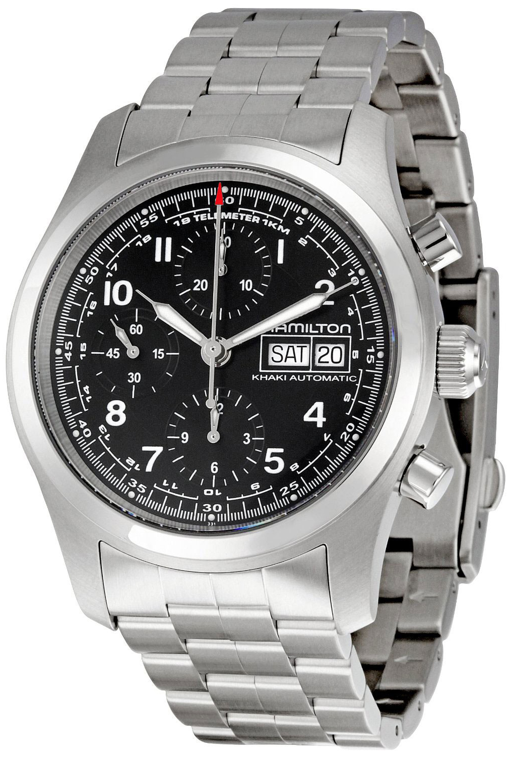 e47a87128 H71516137 Hamilton Khaki Field 42mm Automatic Chronograph Steel Mens Watch