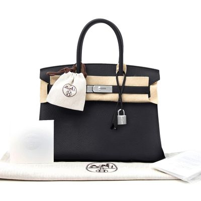 Hermes Birkin Bag 30 Togo Black