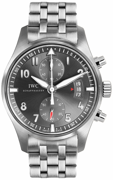 IWC Spitfire Chronograph Ardoise Grey Dial Men's Watch IW387804