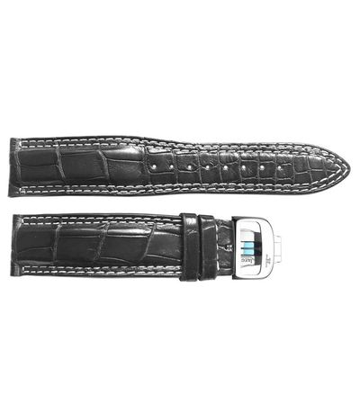 Jaeger LeCoultre 21mm Inlet Black OEM Watch Strap