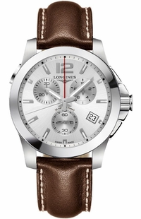 Longines Conquest Chronograph Silver Dial Men's Watch L3.702.4.76.5