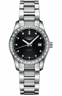 Longines Conquest Classic Black Dial & Diamonds Women's Watch L2.285.0.57.6