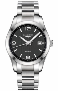 Longines Conquest Classic Black Dial Men's Dress Watch L2.785.4.56.6