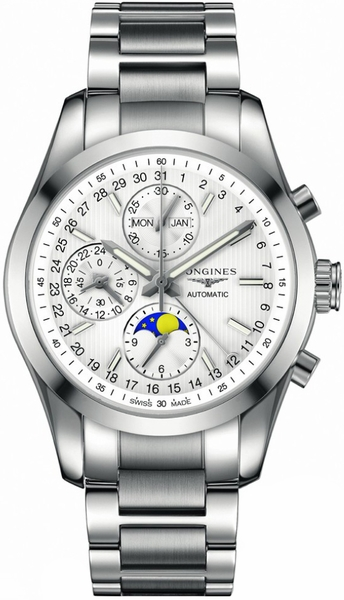 Longines Conquest Classic Automatic Chronograph Silver Dial Men's Watch L2.798.4.72.6