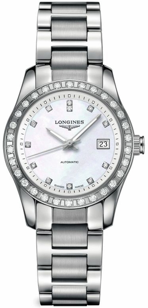 Longines Conquest Diamond Women's Watch L2.285.0.87.6