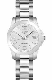 Longines Conquest Silver Dial Steel Women's Watch L3.377.4.76.6