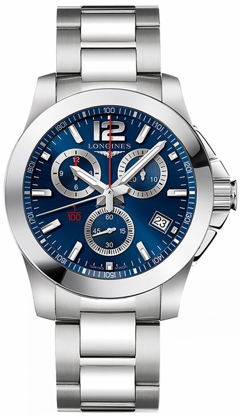 Longines Conquest Blue Dial Men's Watch L3.700.4.96.6