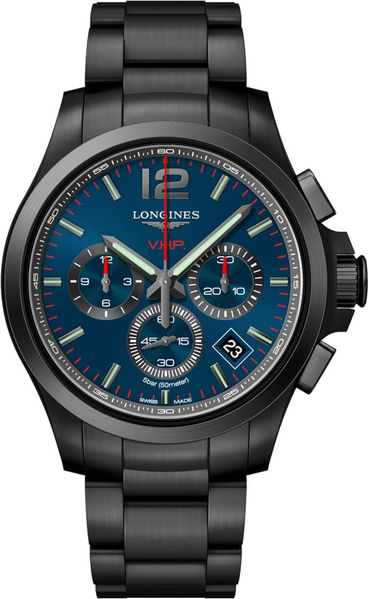 Longines Conquest V.H.P. Blue Chronograph Men's Watch L3.717.2.96.6
