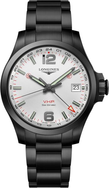 Longines Conquest V.H.P. GMT Silver Dial Men's Watch L3.718.2.76.6