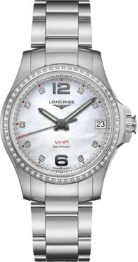 Longines Conquest V.H.P. Mother of Pearl Women's Watch L3.316.0.87.6