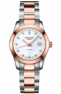 Longines Conquest Women's Diamond Watch L2.285.5.87.7