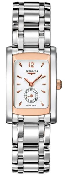 Longines DolceVita White Dial Rose Gold Women's Watch L5.155.5.18.6