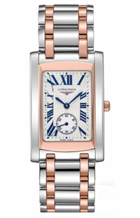 Longines DolceVita Rose Gold & Steel Luxury Men's Watch L5.655.5.71.7