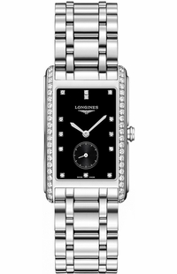 Longines DolceVita Black Dial Men's Diamond Watch L5.755.0.57.6
