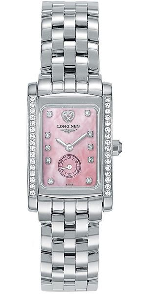 Longines DolceVita Pearl Pink & Diamond Dial Women's Watch L5.155.0.93.6