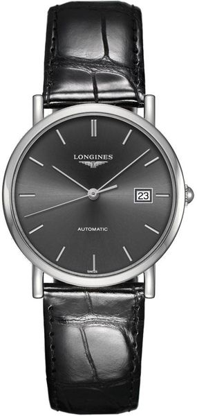 Longines Elegant Collection Grey Dial Women's Watch L4.809.4.72.2