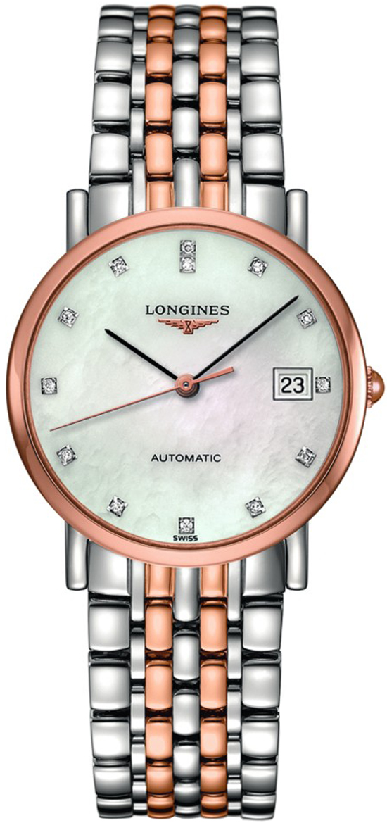 Longines Elegant Collection Rose Gold Ladies Automatic Watch L4.809.5.87.7 Rose Gold Women's Watches