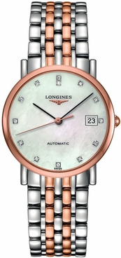 Longines Elegant Collection Rose Gold Automatic Watch L4.809.5.87.7