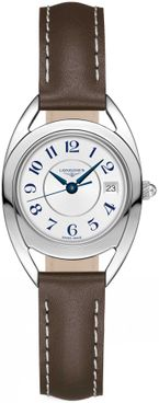 Longines Equestrian Brown Leather Strap Women's Watch L6.136.4.73.2