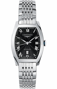 Longines Evidenza Black Roman Dial Women's Watch L2.142.4.51.6