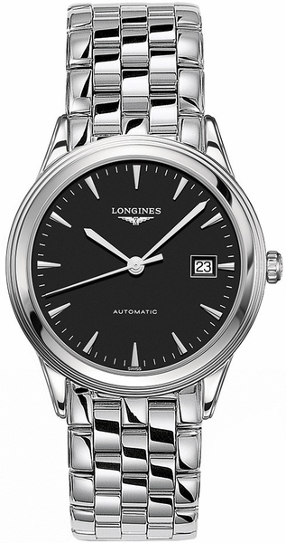 Longines Flagship Black Dial & Stainless Men's Watch L4.874.4.52.6