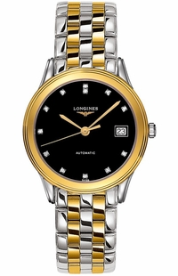 Longines Flagship Men's Black Dial Automatic Watch  L4.774.3.57.7