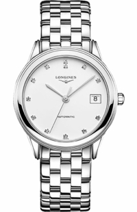 Longines Flagship White Diamond Dial Men's Watch L4.774.4.27.6