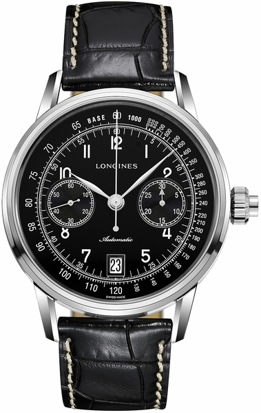 Longines Heritage Column-Wheel Chronograph Black Dial Men's Watch L2.800.4.53.0