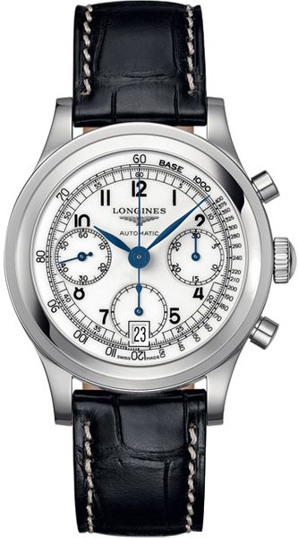 Longines Heritage Silver Dial Men's Automatic Chronograph Watch L2.768.4.13.2