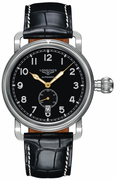 Longines Heritage Black Dial & Stainless Men's Watch L2.777.4.53.0