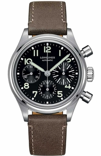 Longines Heritage Chronograph Black Dial Men's Watch L2.816.4.53.2