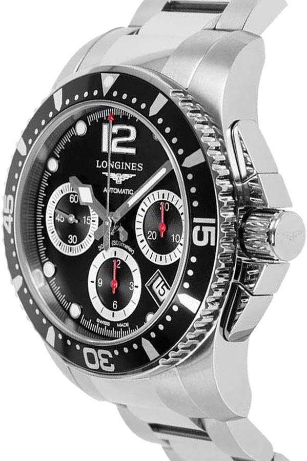 Best Automatic Watches >> L3.744.4.56.6 Men's Longines Black Dial Hydroconquest Diving Watch for Sale