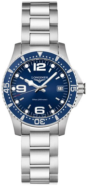 Longines Hydroconquest Blue Dial Women's Watch L3.340.4.96.6