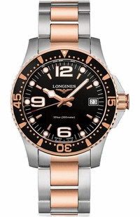 Longines Hydroconquest Quartz Black Dial Women's Watch L3.340.3.58.7