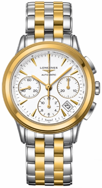 Longines Flagship Chronograph Gold & Stainless Men's Watch L4.803.3.22.7