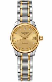 Longines Master Collection Gold Dial Diamond Women's Watch  L2.128.5.37.7