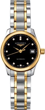 Longines Master Collection Black Dial Two-tone Women's Watch L2.128.5.57.7