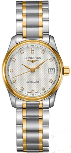 8ecc5d07cbc2d L2.257.5.77.7 Longines Master Collection Ladies Diamond Dial Gold Steel  Watch