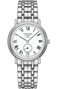 Longines Presence White Dial Luxury Watch L4.804.4.11.6