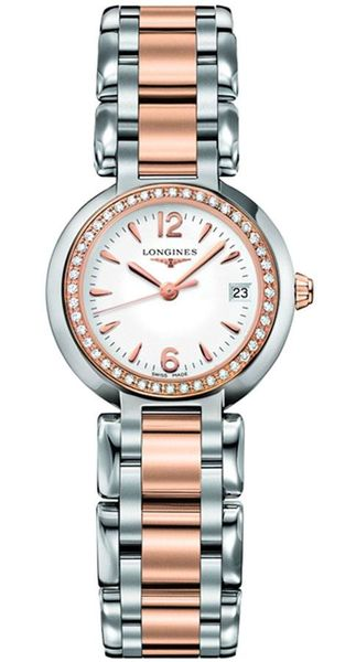 Longines PrimaLuna White Dial & Diamond Ladies Watch L8.110.5.19.6