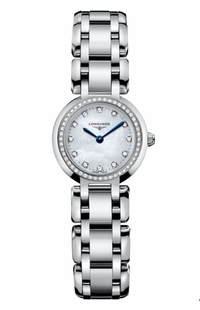 Longines PrimaLuna Pearl White Dial with Diamonds Women's Watch L8.109.0.87.6