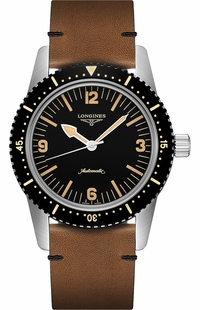 Longines Skin Diver Black Dial Men's Diving Watch L2.822.4.56.2