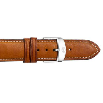 Michele 16mm Brown Saddle Calfskin Strap MS16AA270216