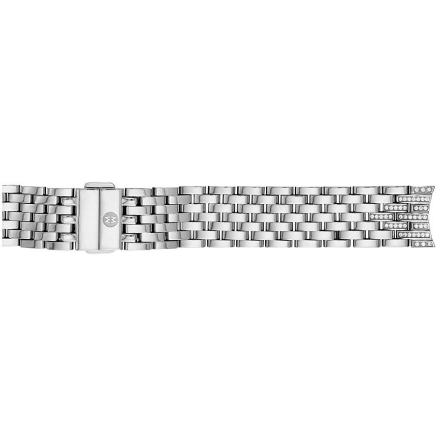 82d642e34 MS18GB235009 Michele Sidney Diamond Taper Steel 7-Link Bracelet