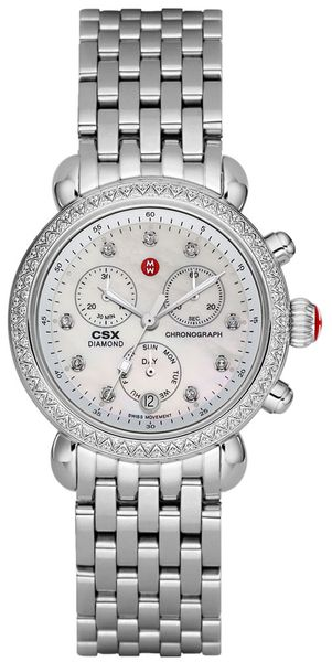 Michele Signature CSX-36 Diamond & Pearl White Dial Ladies Watch MWW03M000114