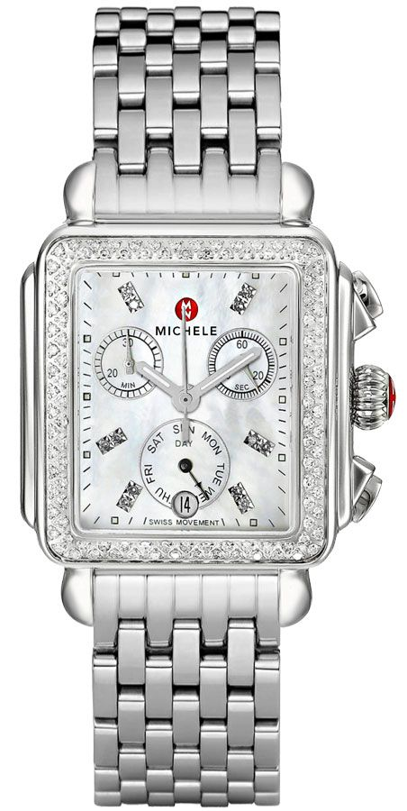 Michele Deco Diamond Women S Watch Sale Mww06p000099